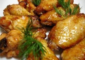 Куриные крылышки в сладком маринаде