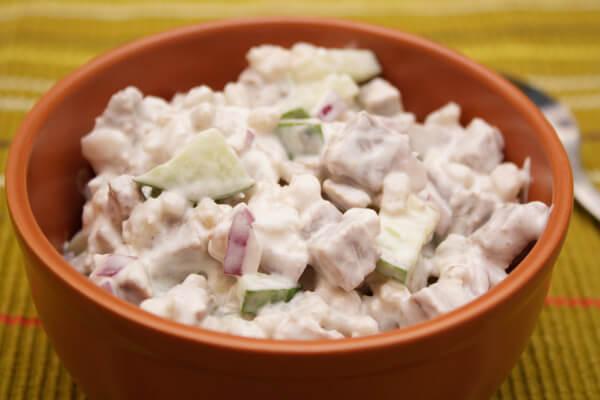 салат из перловки