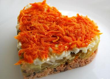 "салат с морковкой ""Валентин"""