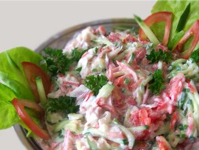 рецепты салатов из мяса и свежих огурцов