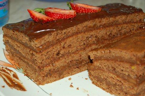 Торт из вафельных коржей классика