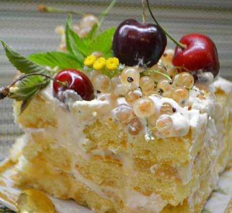 тортик с савоярди